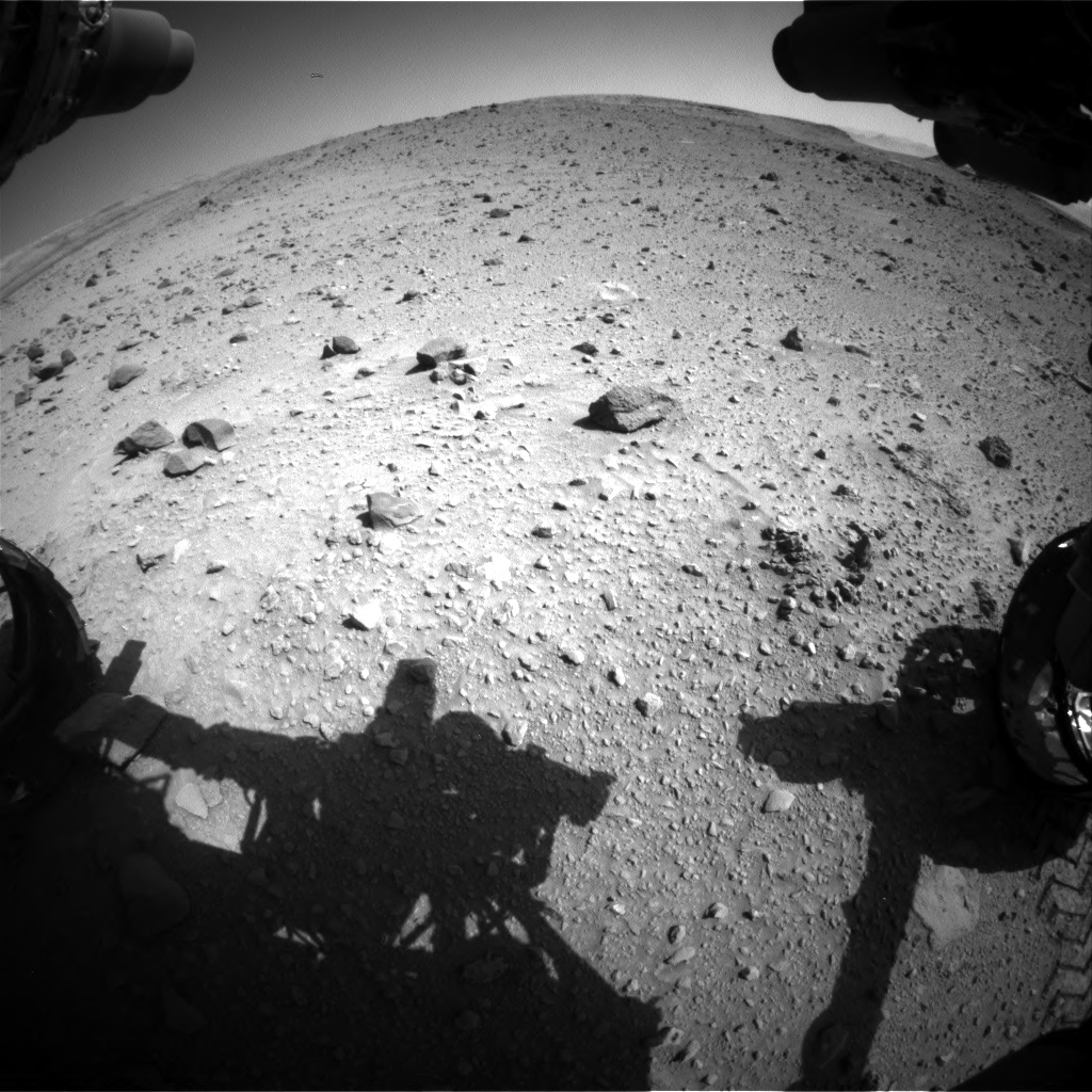 Nasa's Mars rover Curiosity acquired this image using its Front Hazard Avoidance Camera (Front Hazcam) on Sol 520, at drive 1082, site number 25