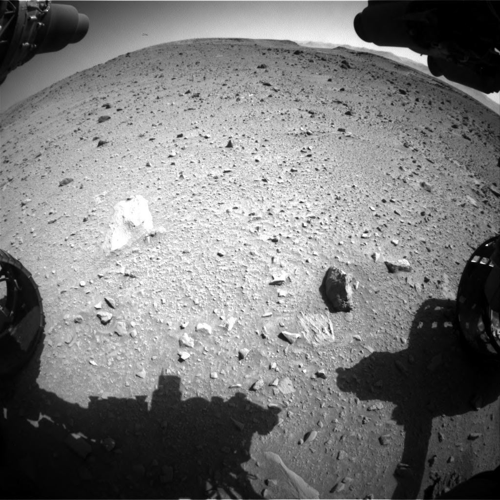 Nasa's Mars rover Curiosity acquired this image using its Front Hazard Avoidance Camera (Front Hazcam) on Sol 520, at drive 1094, site number 25