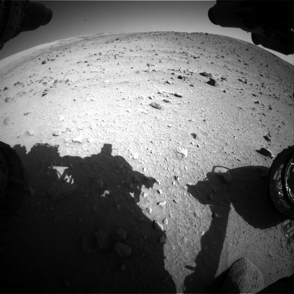 Nasa's Mars rover Curiosity acquired this image using its Front Hazard Avoidance Camera (Front Hazcam) on Sol 520, at drive 1130, site number 25