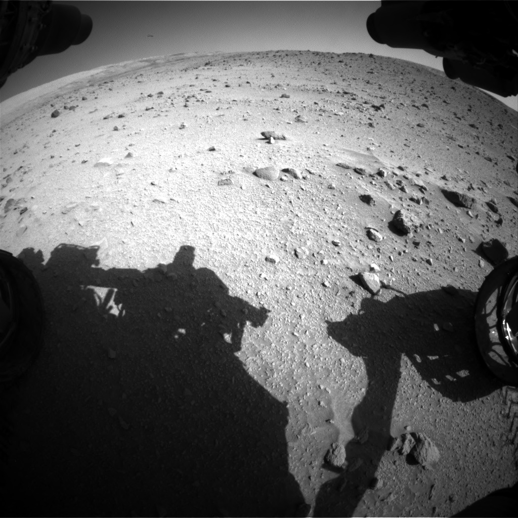 Nasa's Mars rover Curiosity acquired this image using its Front Hazard Avoidance Camera (Front Hazcam) on Sol 520, at drive 1142, site number 25