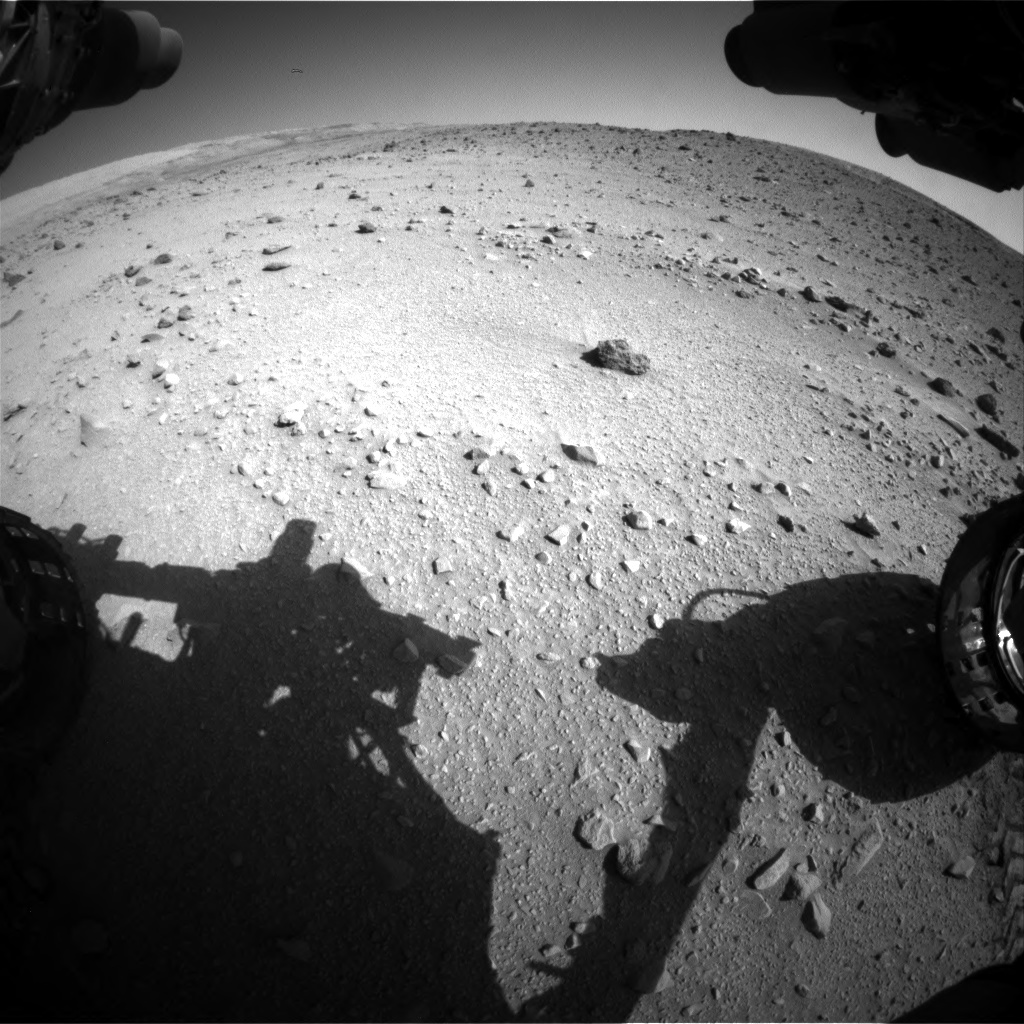 Nasa's Mars rover Curiosity acquired this image using its Front Hazard Avoidance Camera (Front Hazcam) on Sol 520, at drive 1166, site number 25