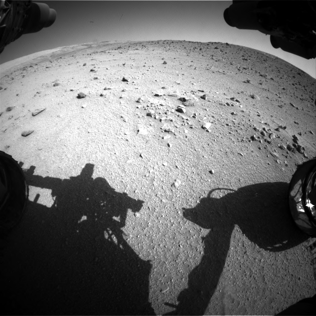 Nasa's Mars rover Curiosity acquired this image using its Front Hazard Avoidance Camera (Front Hazcam) on Sol 520, at drive 1178, site number 25