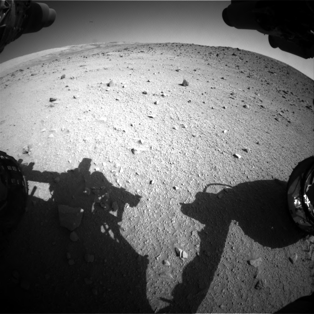 Nasa's Mars rover Curiosity acquired this image using its Front Hazard Avoidance Camera (Front Hazcam) on Sol 520, at drive 1196, site number 25
