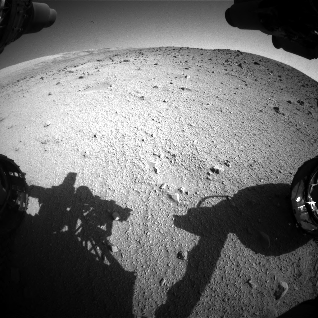 Nasa's Mars rover Curiosity acquired this image using its Front Hazard Avoidance Camera (Front Hazcam) on Sol 520, at drive 1226, site number 25