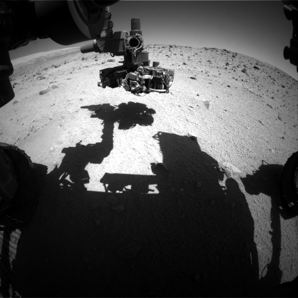 Nasa's Mars rover Curiosity acquired this image using its Front Hazard Avoidance Camera (Front Hazcam) on Sol 521, at drive 1244, site number 25