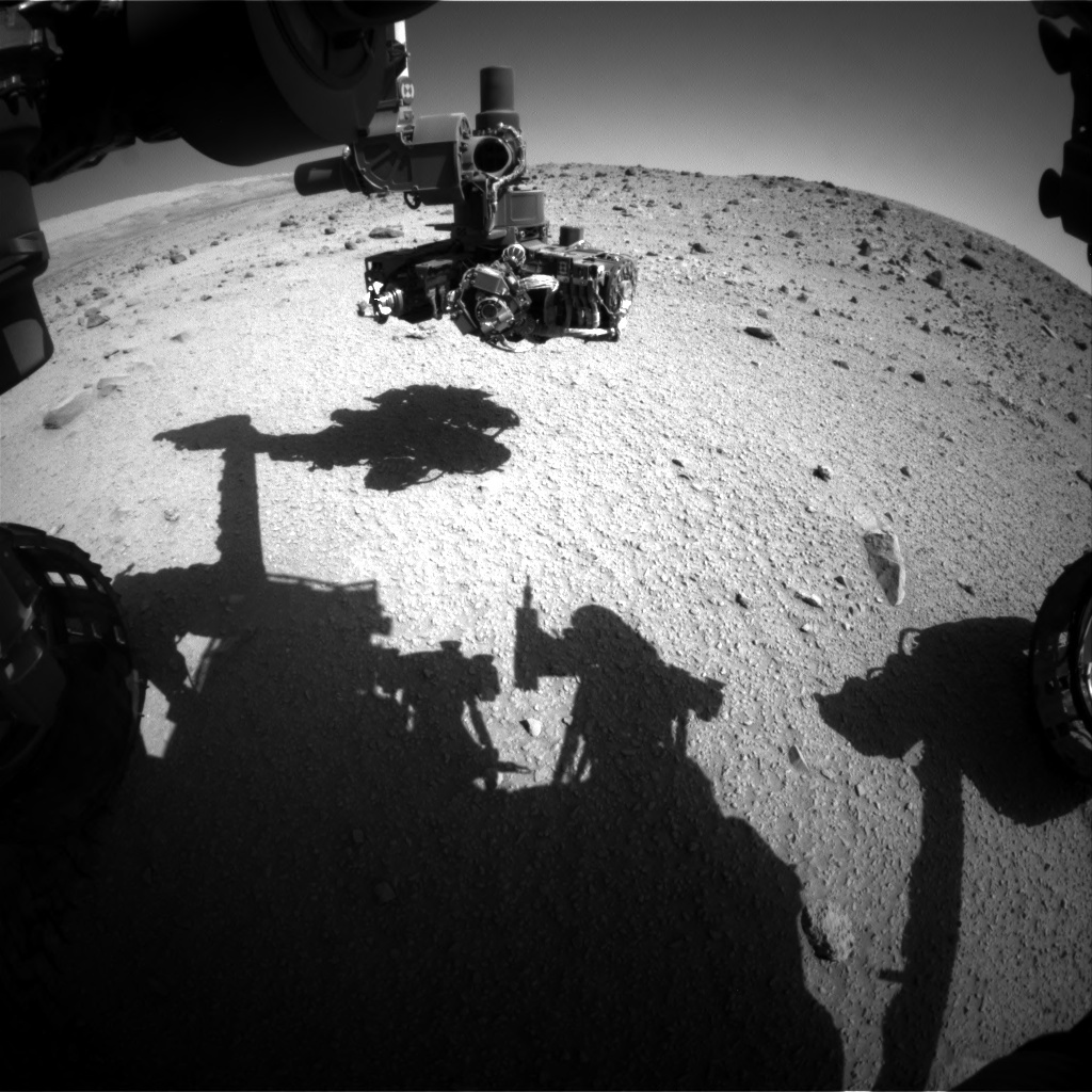 NASA's Mars rover Curiosity acquired this image using its Front Hazard Avoidance Cameras (Front Hazcams) on Sol 521