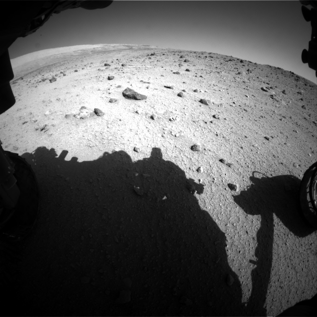 Nasa's Mars rover Curiosity acquired this image using its Front Hazard Avoidance Camera (Front Hazcam) on Sol 521, at drive 1274, site number 25
