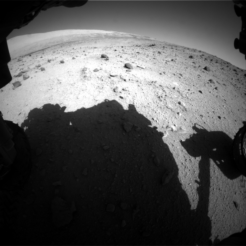 Nasa's Mars rover Curiosity acquired this image using its Front Hazard Avoidance Camera (Front Hazcam) on Sol 521, at drive 1286, site number 25