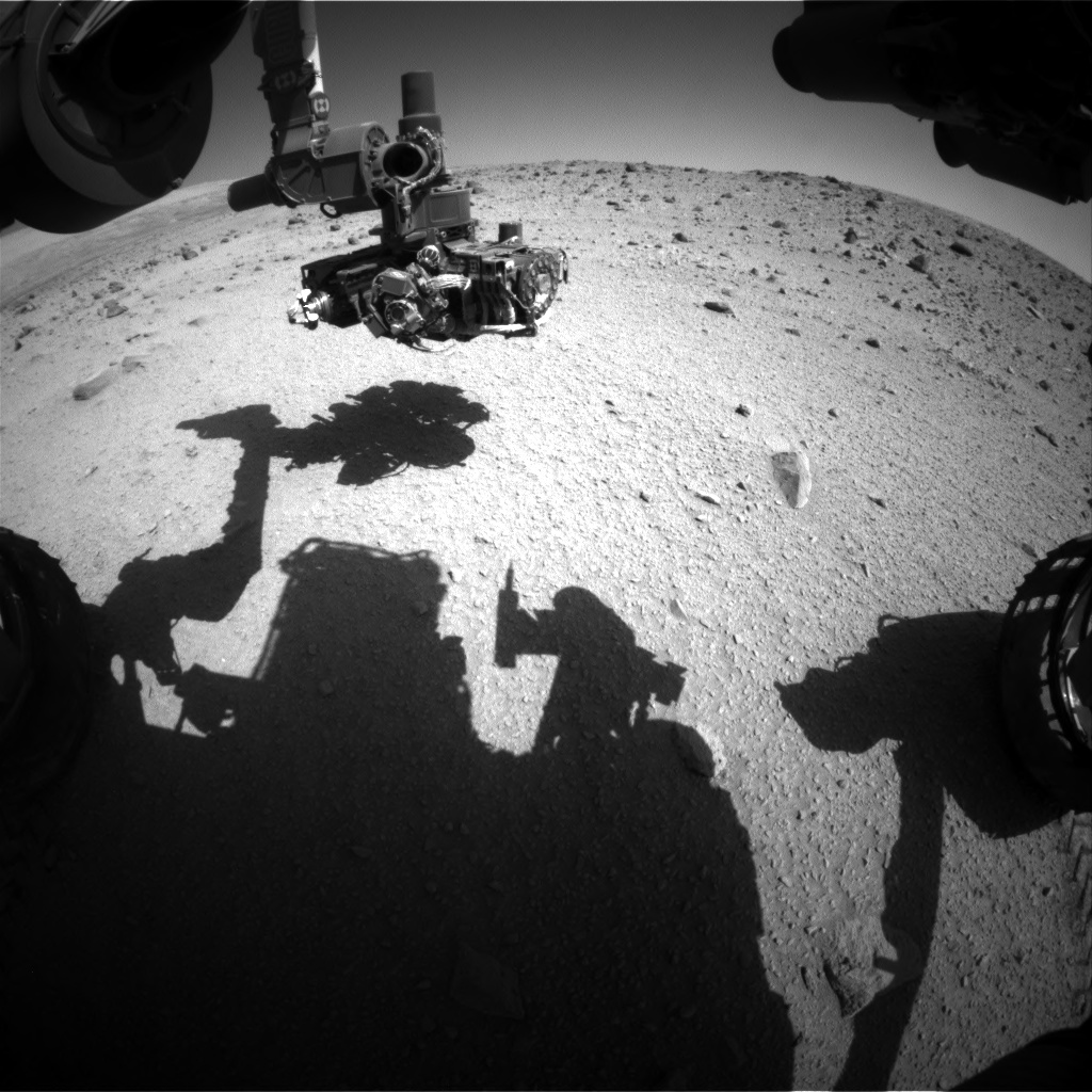 Nasa's Mars rover Curiosity acquired this image using its Front Hazard Avoidance Camera (Front Hazcam) on Sol 521, at drive 1256, site number 25