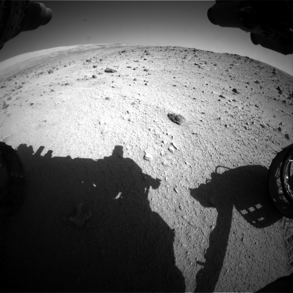 Nasa's Mars rover Curiosity acquired this image using its Front Hazard Avoidance Camera (Front Hazcam) on Sol 521, at drive 1268, site number 25