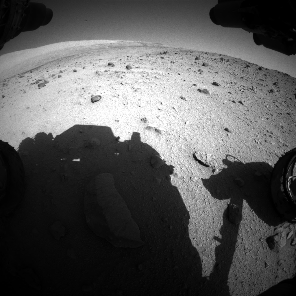 Nasa's Mars rover Curiosity acquired this image using its Front Hazard Avoidance Camera (Front Hazcam) on Sol 521, at drive 1280, site number 25