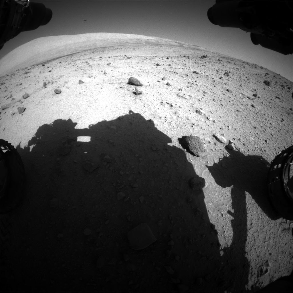 Nasa's Mars rover Curiosity acquired this image using its Front Hazard Avoidance Camera (Front Hazcam) on Sol 521, at drive 1292, site number 25