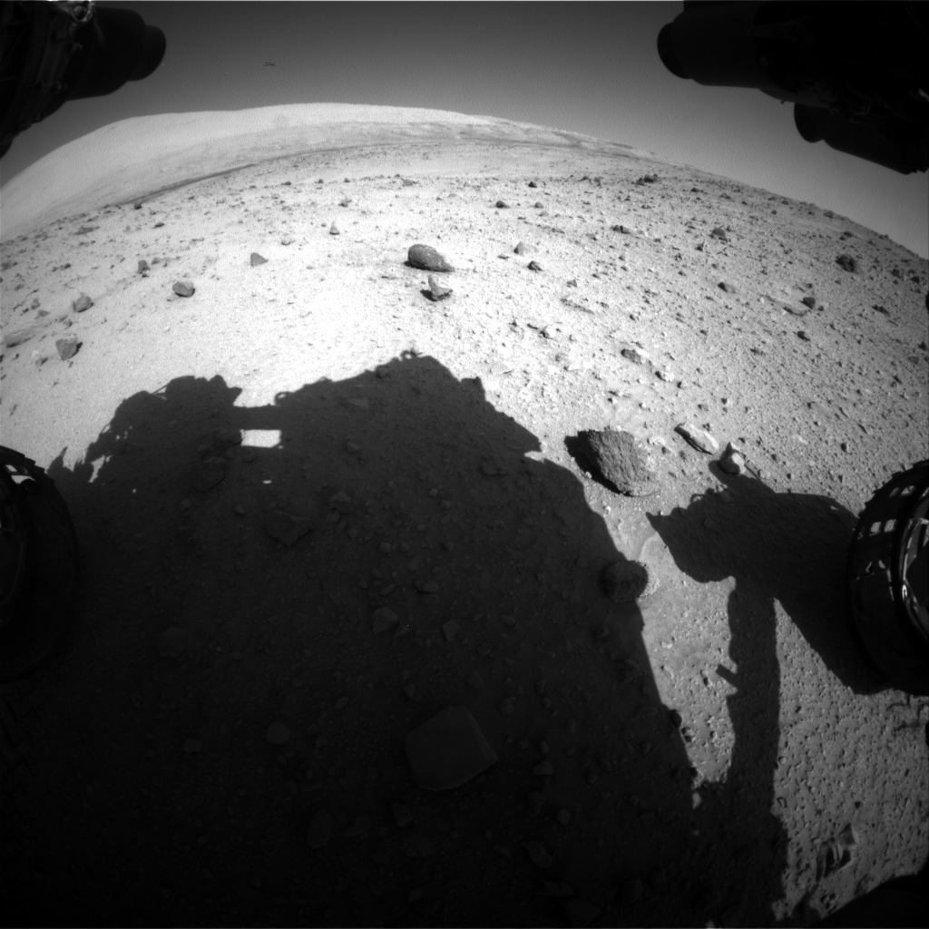 Nasa's Mars rover Curiosity acquired this image using its Front Hazard Avoidance Camera (Front Hazcam) on Sol 521, at drive 1296, site number 25