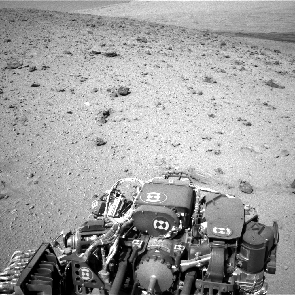 Nasa's Mars rover Curiosity acquired this image using its Left Navigation Camera on Sol 521, at drive 1296, site number 25