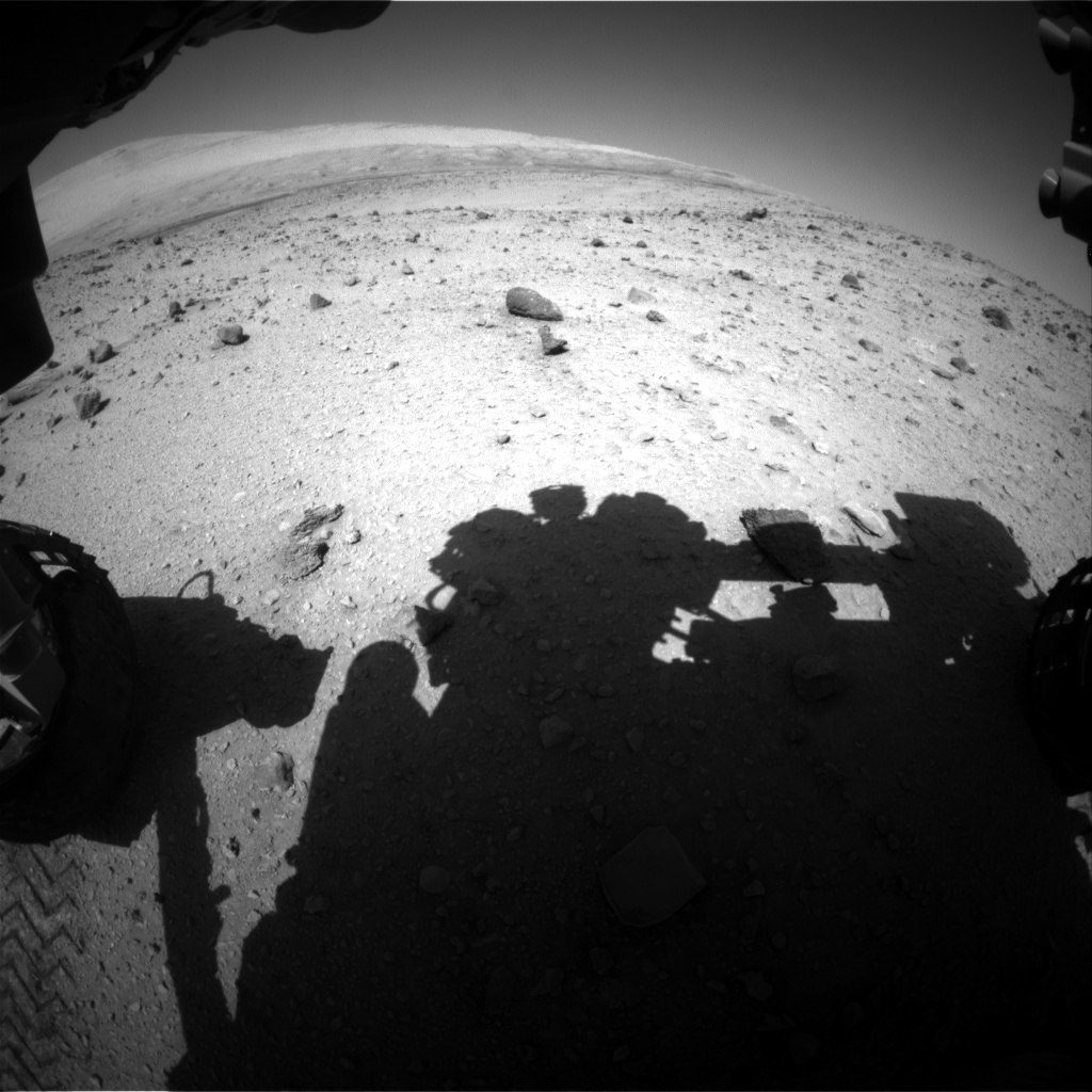 Nasa's Mars rover Curiosity acquired this image using its Front Hazard Avoidance Camera (Front Hazcam) on Sol 522, at drive 1296, site number 25