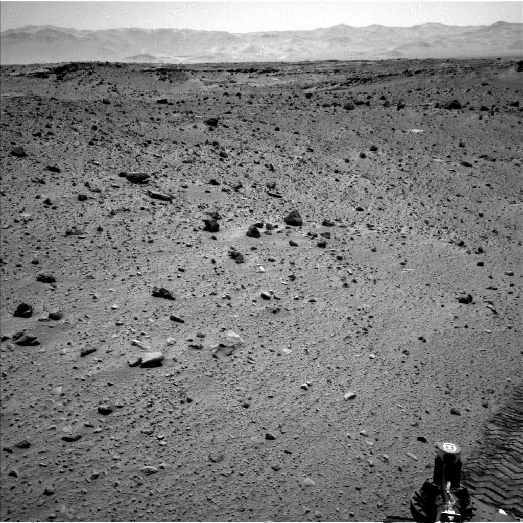 Nasa's Mars rover Curiosity acquired this image using its Left Navigation Camera on Sol 522, at drive 1296, site number 25