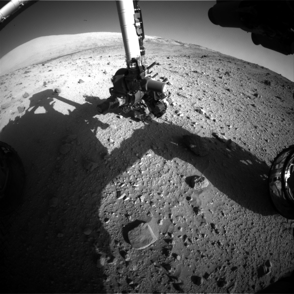 Nasa's Mars rover Curiosity acquired this image using its Front Hazard Avoidance Camera (Front Hazcam) on Sol 523, at drive 1296, site number 25