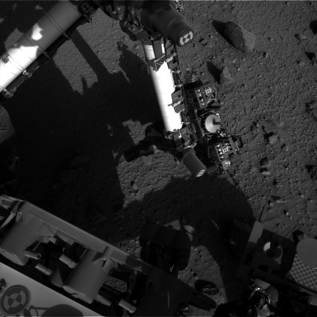 Nasa's Mars rover Curiosity acquired this image using its Left Navigation Camera on Sol 523, at drive 1296, site number 25