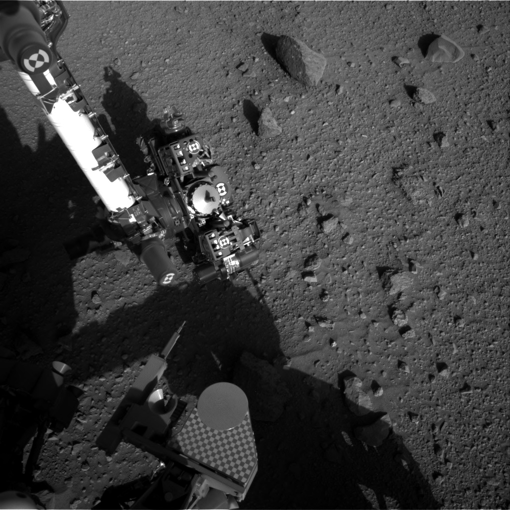Nasa's Mars rover Curiosity acquired this image using its Right Navigation Camera on Sol 523, at drive 1296, site number 25