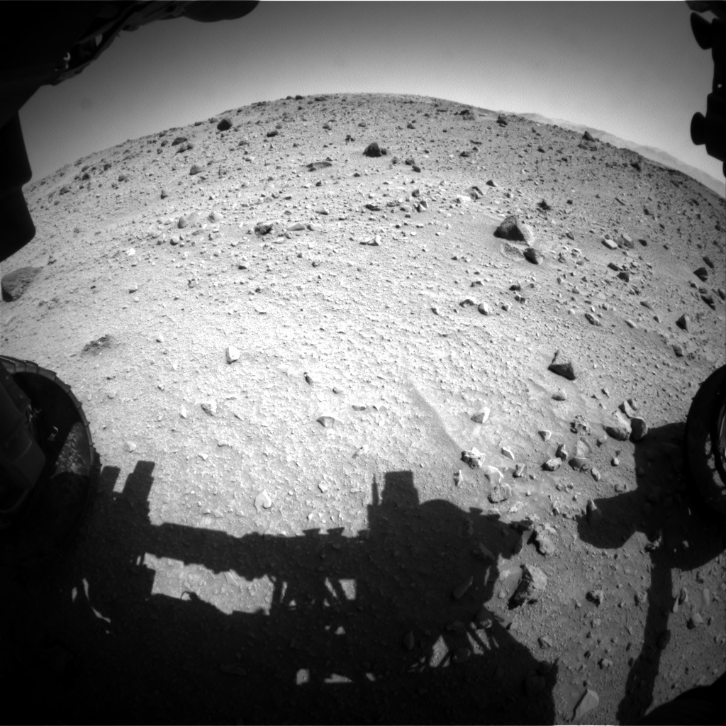NASA's Mars rover Curiosity acquired this image using its Front Hazard Avoidance Cameras (Front Hazcams) on Sol 524