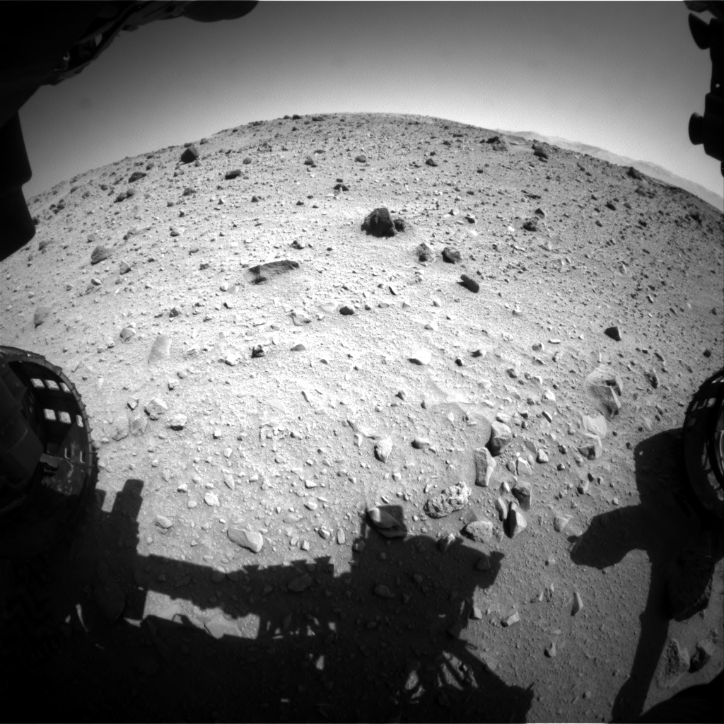 Nasa's Mars rover Curiosity acquired this image using its Front Hazard Avoidance Camera (Front Hazcam) on Sol 524, at drive 1330, site number 25