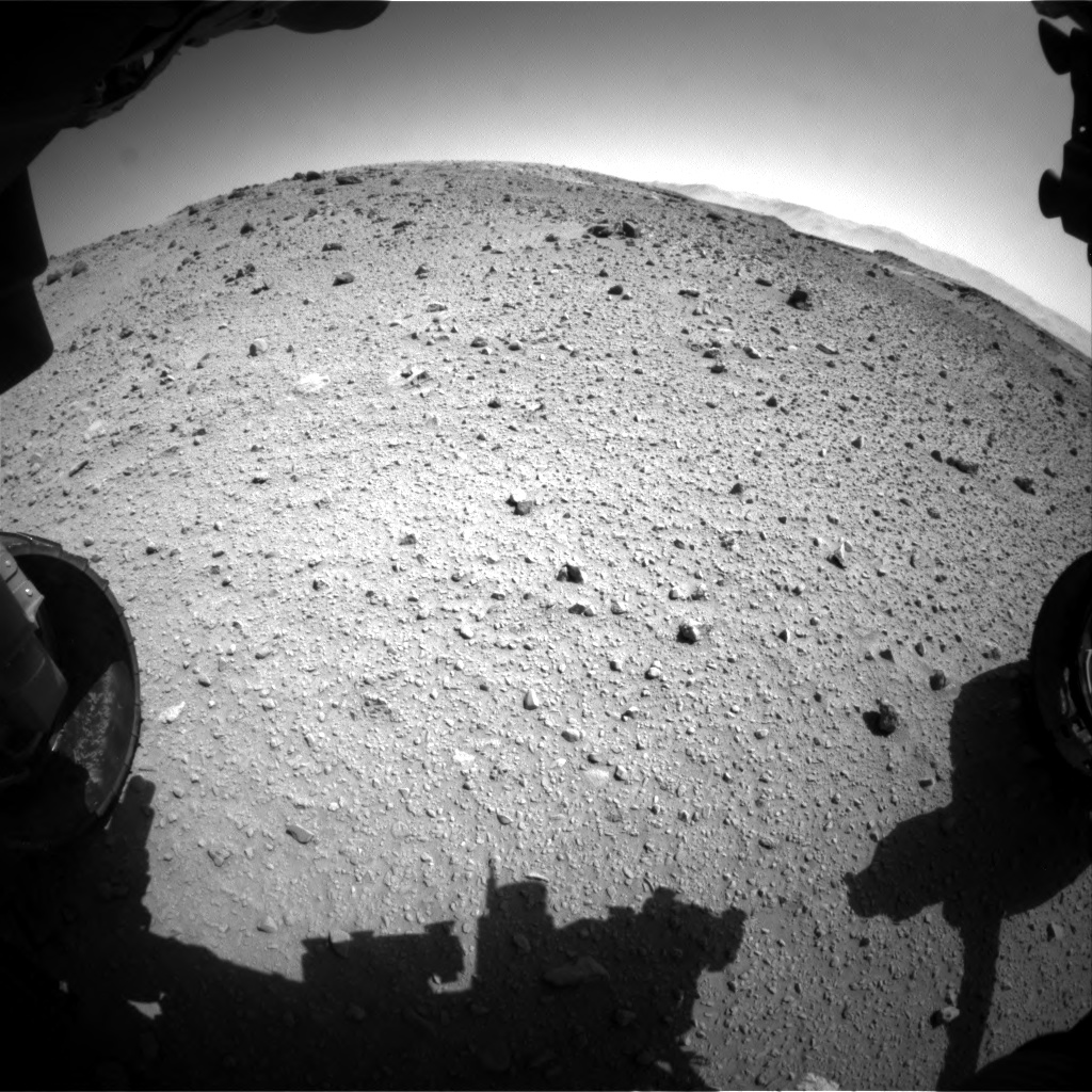 Nasa's Mars rover Curiosity acquired this image using its Front Hazard Avoidance Camera (Front Hazcam) on Sol 524, at drive 1384, site number 25