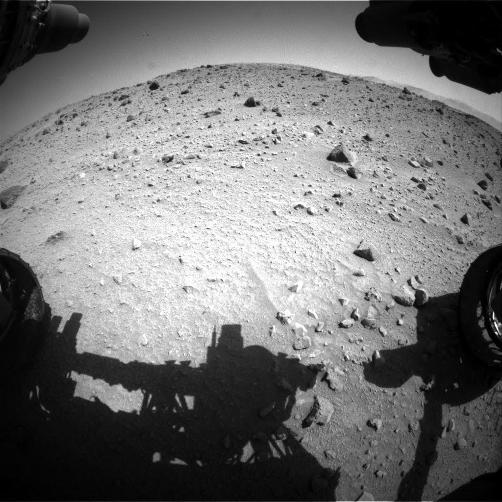 Nasa's Mars rover Curiosity acquired this image using its Front Hazard Avoidance Camera (Front Hazcam) on Sol 524, at drive 1318, site number 25