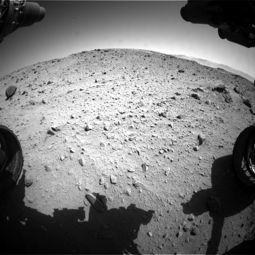 Nasa's Mars rover Curiosity acquired this image using its Front Hazard Avoidance Camera (Front Hazcam) on Sol 524, at drive 1354, site number 25