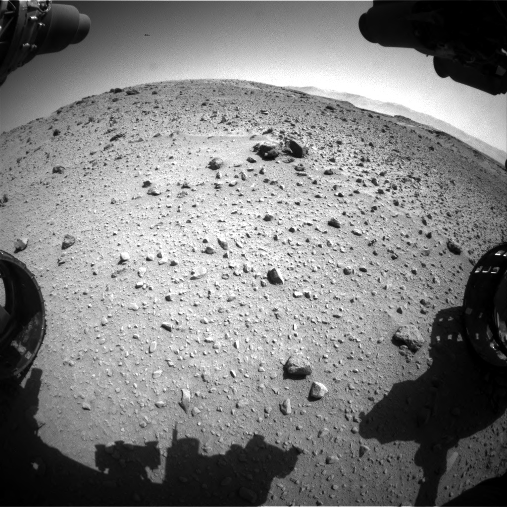 Nasa's Mars rover Curiosity acquired this image using its Front Hazard Avoidance Camera (Front Hazcam) on Sol 524, at drive 1402, site number 25