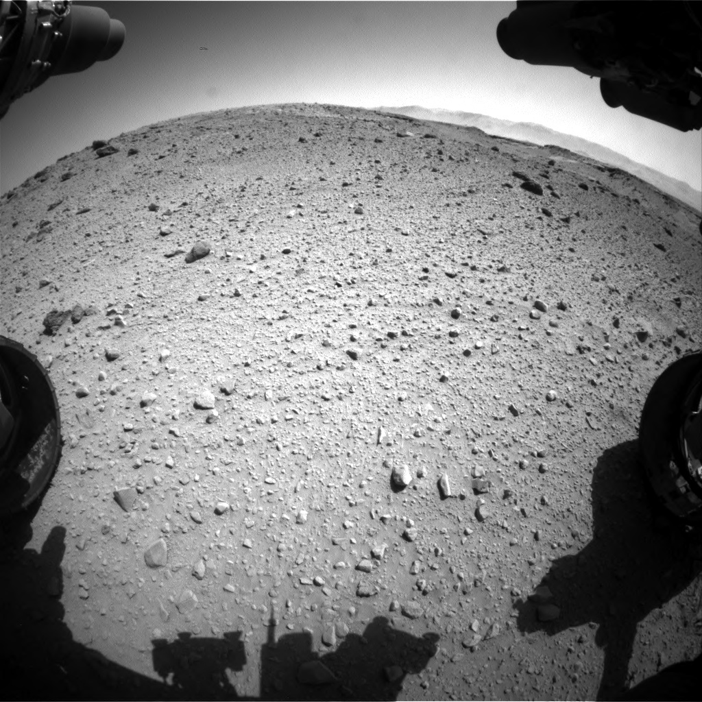 Nasa's Mars rover Curiosity acquired this image using its Front Hazard Avoidance Camera (Front Hazcam) on Sol 524, at drive 1438, site number 25