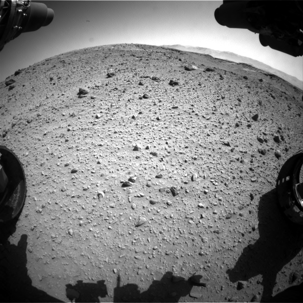 Nasa's Mars rover Curiosity acquired this image using its Front Hazard Avoidance Camera (Front Hazcam) on Sol 524, at drive 1468, site number 25