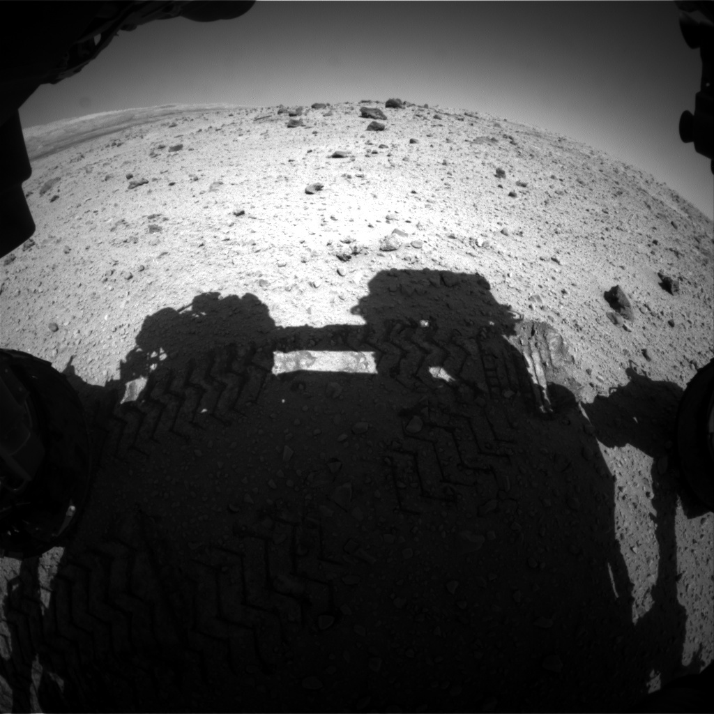 NASA's Mars rover Curiosity acquired this image using its Front Hazard Avoidance Cameras (Front Hazcams) on Sol 525