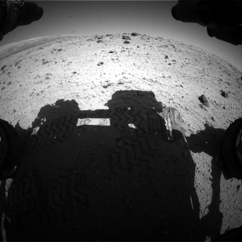 Nasa's Mars rover Curiosity acquired this image using its Front Hazard Avoidance Camera (Front Hazcam) on Sol 525, at drive 1496, site number 25