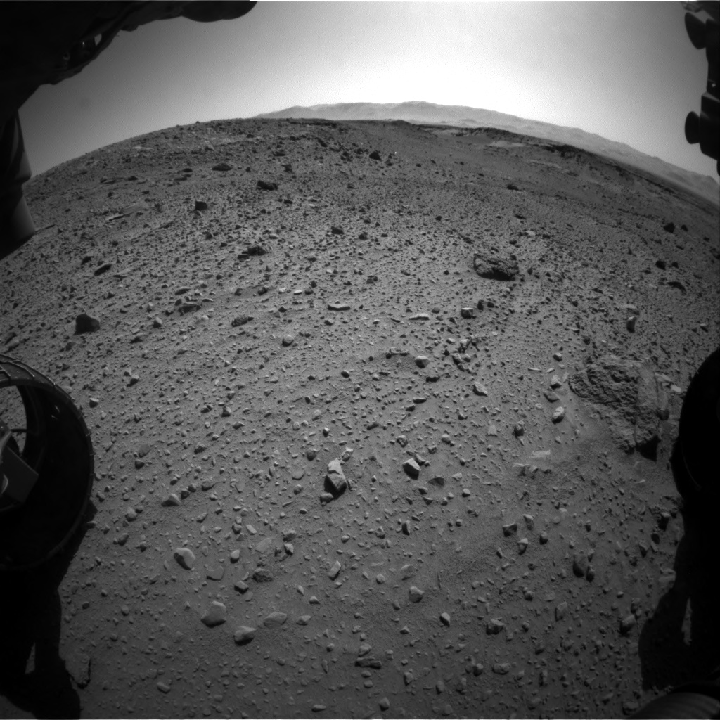 Nasa's Mars rover Curiosity acquired this image using its Front Hazard Avoidance Camera (Front Hazcam) on Sol 526, at drive 1544, site number 25