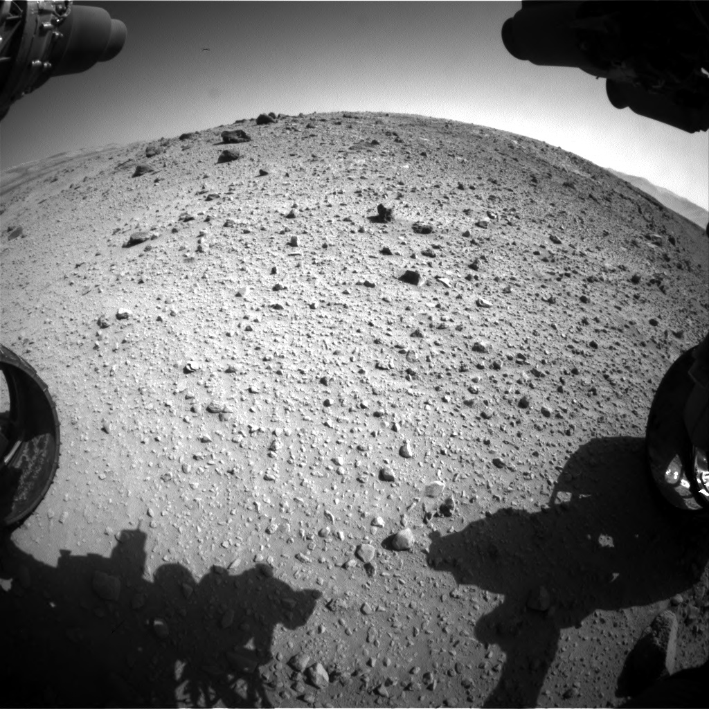 Nasa's Mars rover Curiosity acquired this image using its Front Hazard Avoidance Camera (Front Hazcam) on Sol 526, at drive 1508, site number 25