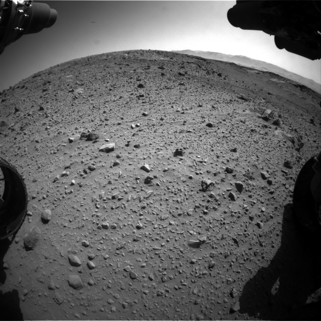 Nasa's Mars rover Curiosity acquired this image using its Front Hazard Avoidance Camera (Front Hazcam) on Sol 526, at drive 1532, site number 25