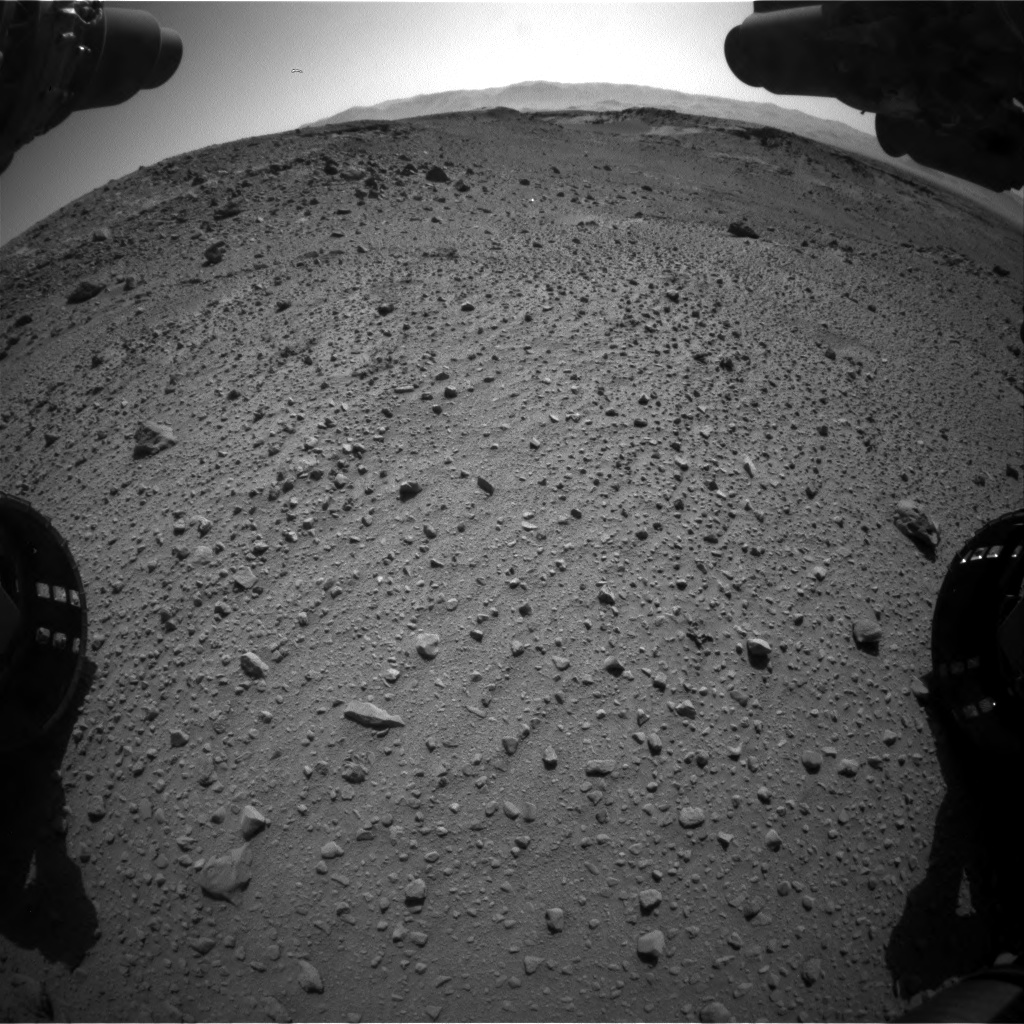 Nasa's Mars rover Curiosity acquired this image using its Front Hazard Avoidance Camera (Front Hazcam) on Sol 526, at drive 1574, site number 25