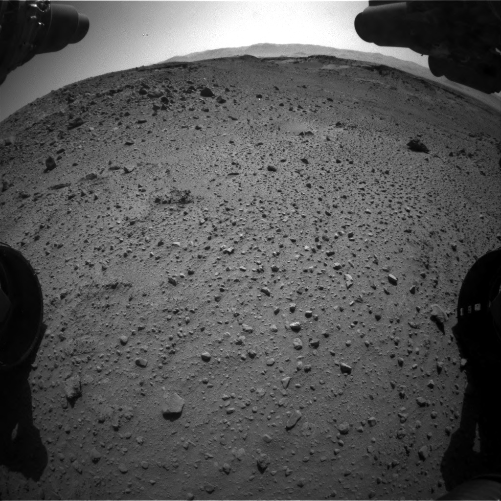Nasa's Mars rover Curiosity acquired this image using its Front Hazard Avoidance Camera (Front Hazcam) on Sol 526, at drive 1586, site number 25