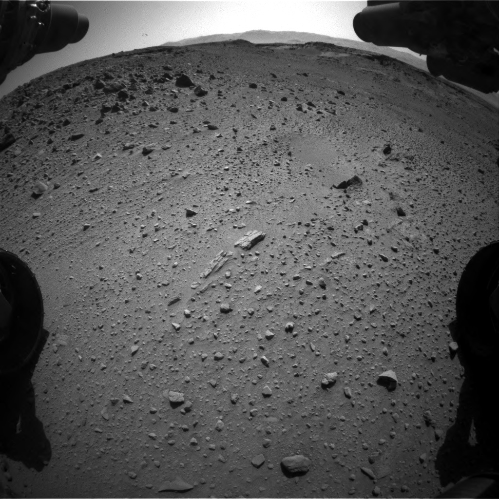 Nasa's Mars rover Curiosity acquired this image using its Front Hazard Avoidance Camera (Front Hazcam) on Sol 526, at drive 1598, site number 25