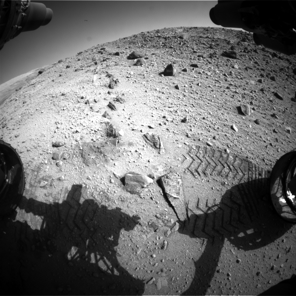 Nasa's Mars rover Curiosity acquired this image using its Front Hazard Avoidance Camera (Front Hazcam) on Sol 526, at drive 1638, site number 25