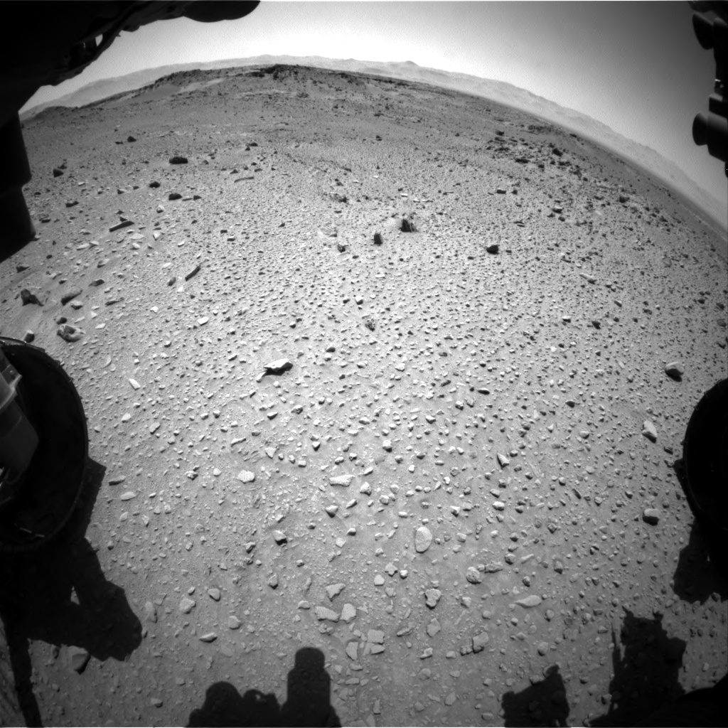 Nasa's Mars rover Curiosity acquired this image using its Front Hazard Avoidance Camera (Front Hazcam) on Sol 527, at drive 1692, site number 25