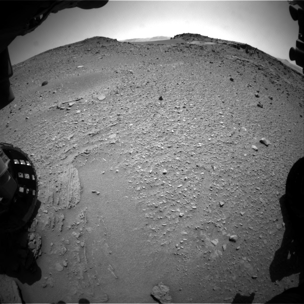 Nasa's Mars rover Curiosity acquired this image using its Front Hazard Avoidance Camera (Front Hazcam) on Sol 527, at drive 1800, site number 25