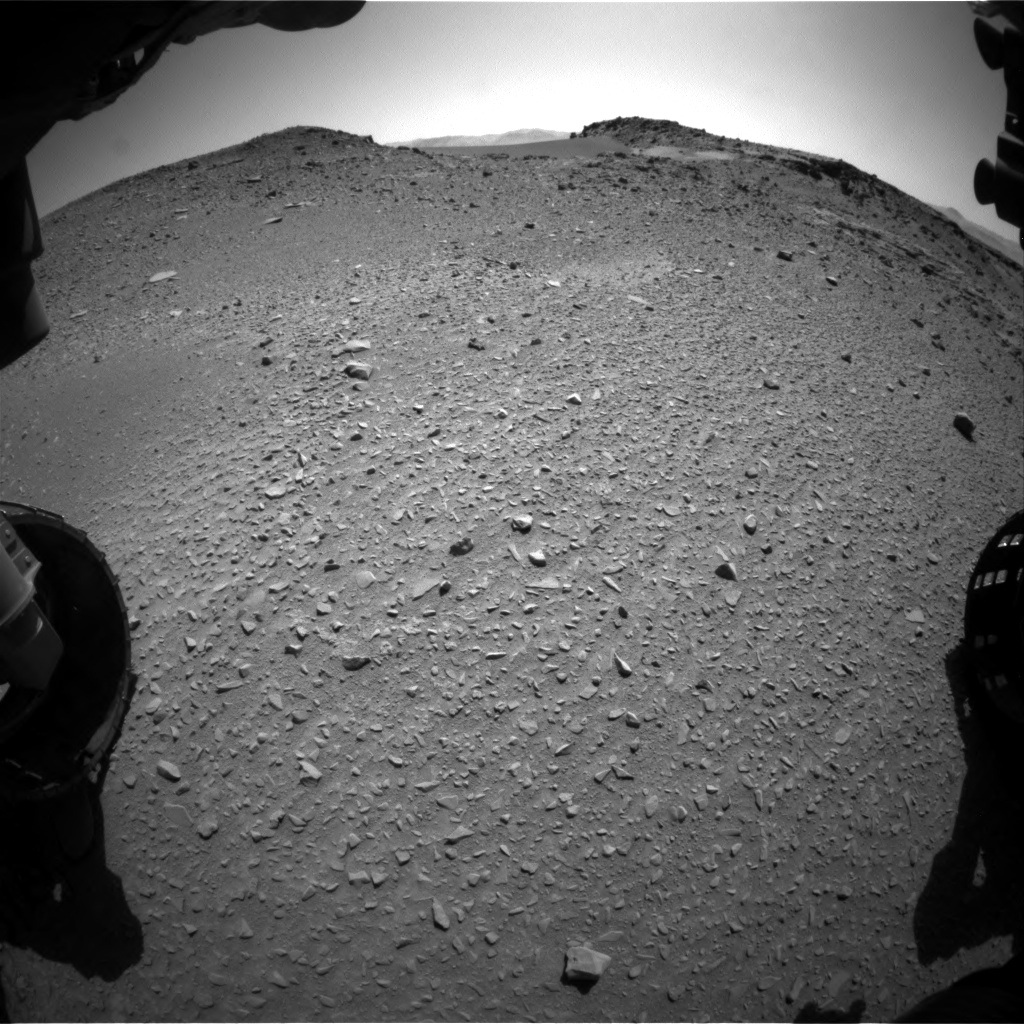 Nasa's Mars rover Curiosity acquired this image using its Front Hazard Avoidance Camera (Front Hazcam) on Sol 527, at drive 1812, site number 25