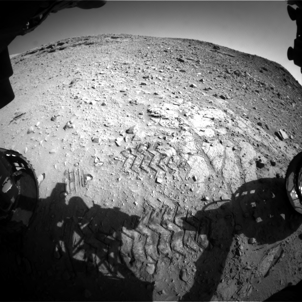 Nasa's Mars rover Curiosity acquired this image using its Front Hazard Avoidance Camera (Front Hazcam) on Sol 527, at drive 0, site number 26