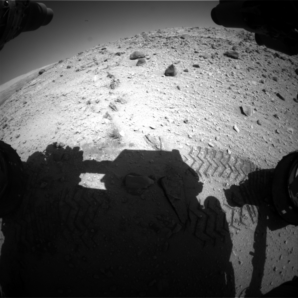 NASA's Mars rover Curiosity acquired this image using its Front Hazard Avoidance Cameras (Front Hazcams) on Sol 527