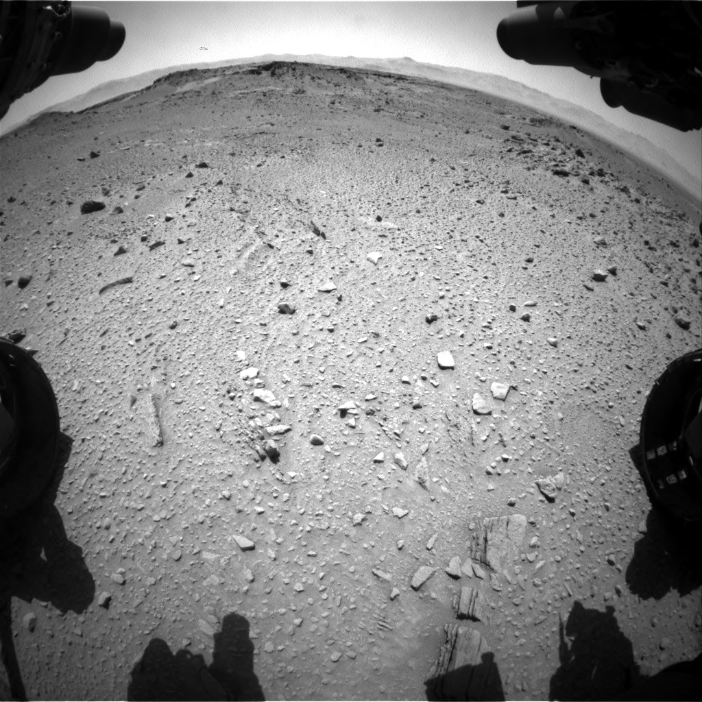 Nasa's Mars rover Curiosity acquired this image using its Front Hazard Avoidance Camera (Front Hazcam) on Sol 527, at drive 1704, site number 25