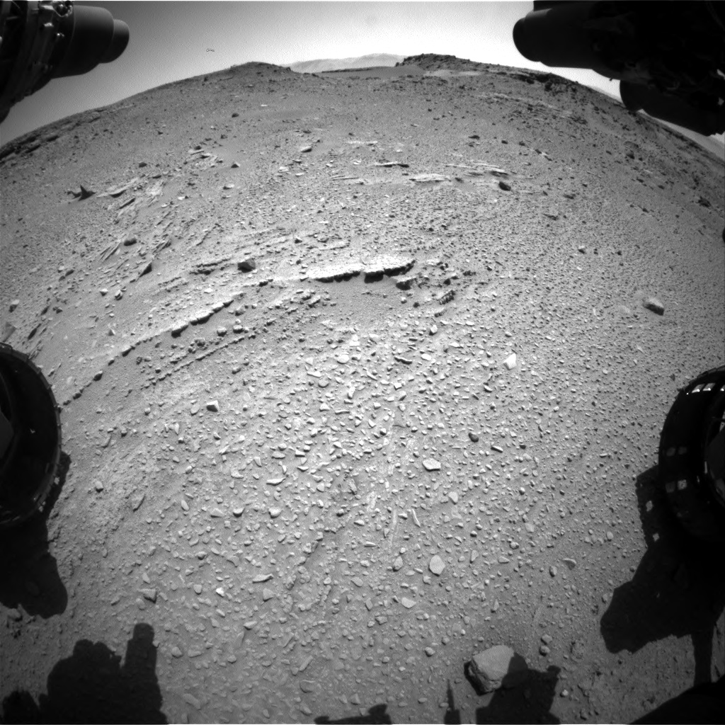 Nasa's Mars rover Curiosity acquired this image using its Front Hazard Avoidance Camera (Front Hazcam) on Sol 527, at drive 1764, site number 25