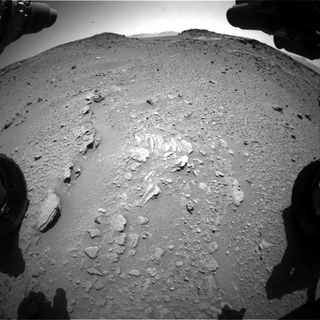 Nasa's Mars rover Curiosity acquired this image using its Front Hazard Avoidance Camera (Front Hazcam) on Sol 527, at drive 1788, site number 25