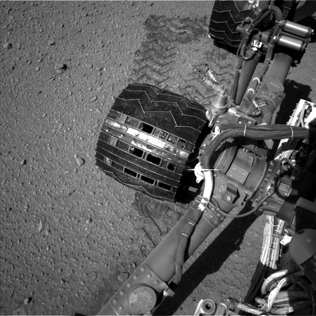 Nasa's Mars rover Curiosity acquired this image using its Left Navigation Camera on Sol 527, at drive 1764, site number 25