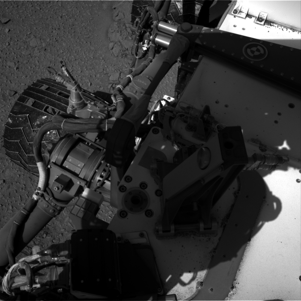 Nasa's Mars rover Curiosity acquired this image using its Right Navigation Camera on Sol 527, at drive 1800, site number 25